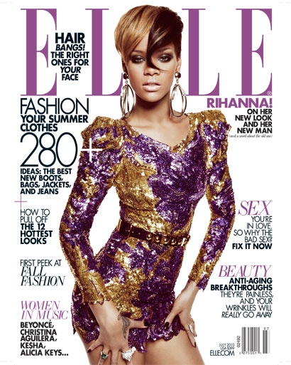 Rihanna features ELLE US July 2010