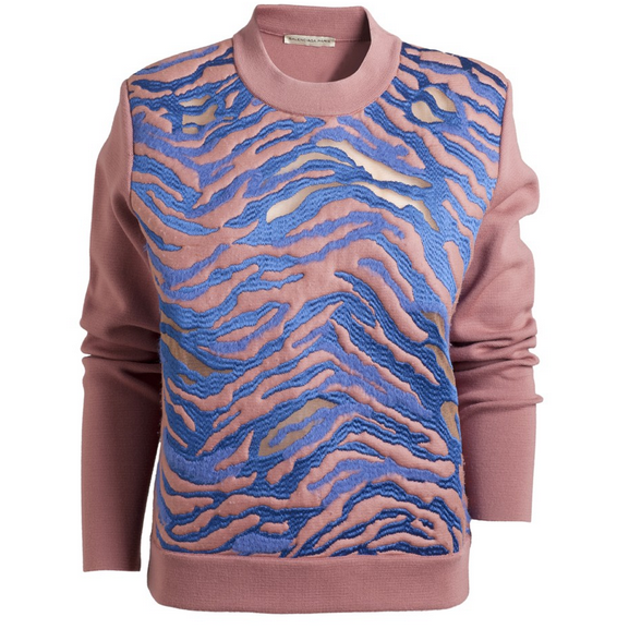 Balenciaga ball tiger sweater. On sale at Holly Golightly